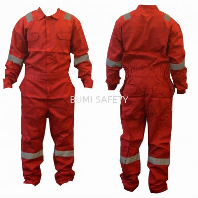 100% Cotton Coverall Red