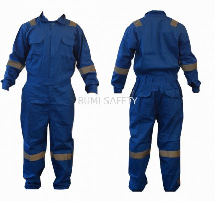 100% Cotton Coverall Royal Blue