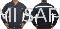 SAFETY JACKET WAISTBAND NAVY BLUE Jacket Protective Clothing