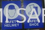 Safety Shoes, Safety Helmet Board Safety Signage