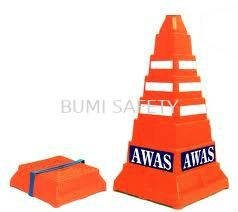 Safety Square Cone - Awas