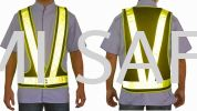 Executive V-Vest (BLACK) Safety Vest Safety Vest / Traffic Control