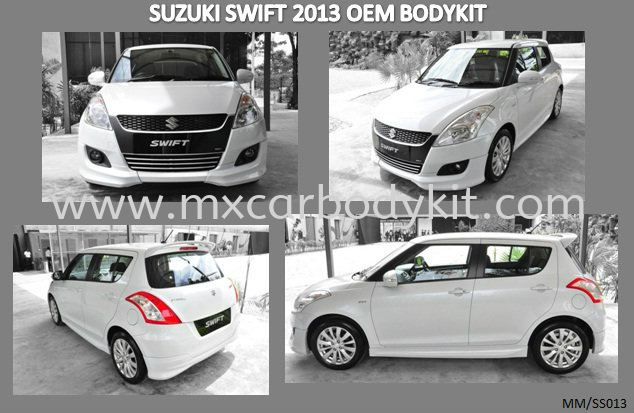 SUZUKI SWIFT 2013 OEM BODY KIT + SPOILER  SWIFT 2013 SUZUKI