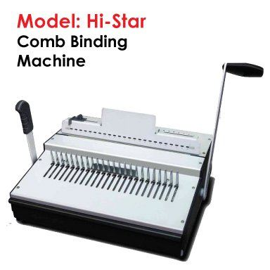 Hi-Star Comb Binding Machine