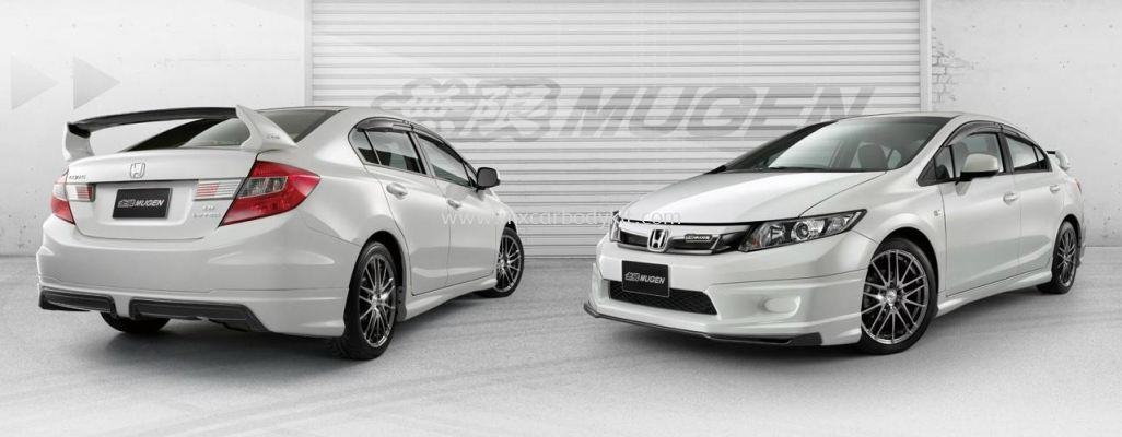 HONDA CIVIC 2012 MUGEN BODY KIT + SPOILER