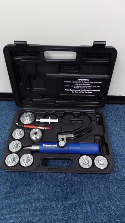 "MASTERCOOL 71600 HYDR. TUBE EXP. TOOL KIT (7 HEAD KIT) (O.D. 3/8"",1/2"",5/8"",3/4"",7/8"",1"",1-1/8"")"