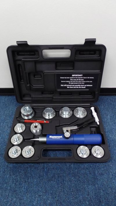 "MASTERCOOL 71650 HYDR. TUBE EXP. TOOL KIT (3/8"",1/2"",5/8"",3/4"",7/8"",1"",1-1/8"",1-3/8"",1-5/8"",2-1/8"")"