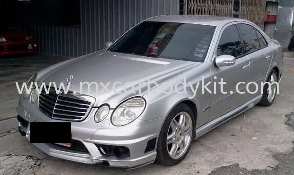 MERCEDES BENZ W211 BLACK BISON STYLE FULL SET BODYKIT + SPOILER W211 (E CLASS) MERCEDES BENZ