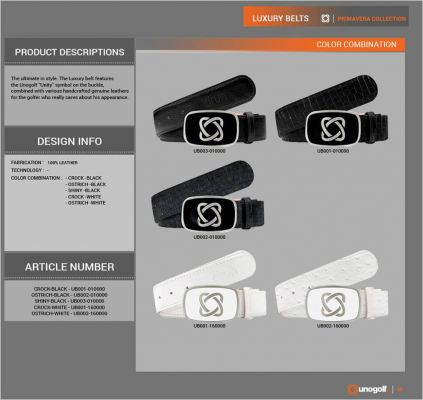 UnoGolf Luxury Belts