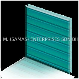 Polycarbonate Sheet - Greenish Blue