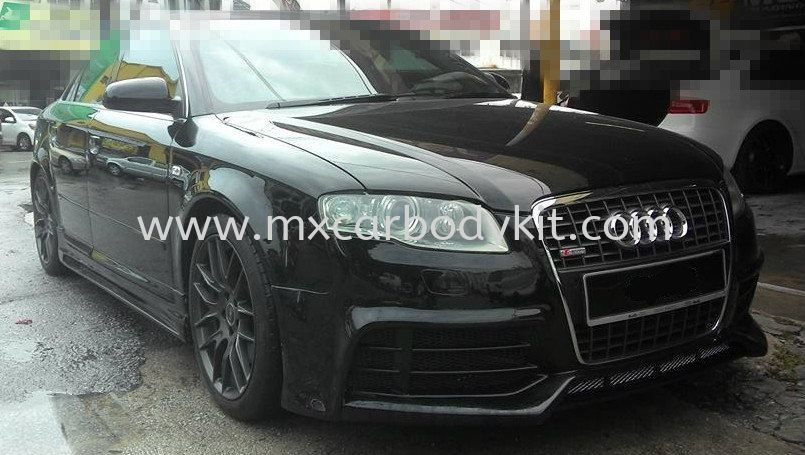 Audi a4 b7 rieger style full set bodykit spoiler a4 audi for Mueble 2 din audi a4 b7