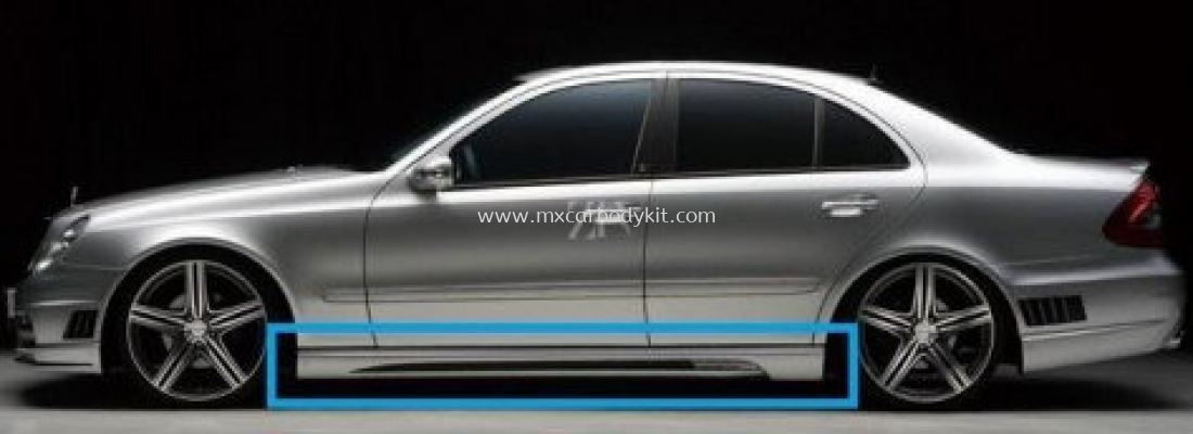 MERCEDES BENZ W211 BLACK BISON STYLE SIDE SKIRT