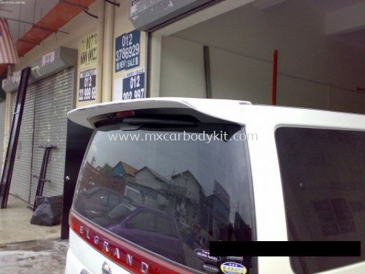 NISSAN ELGRAND 2005 E51 J-EMOTION DESIGN REAR SPOILER