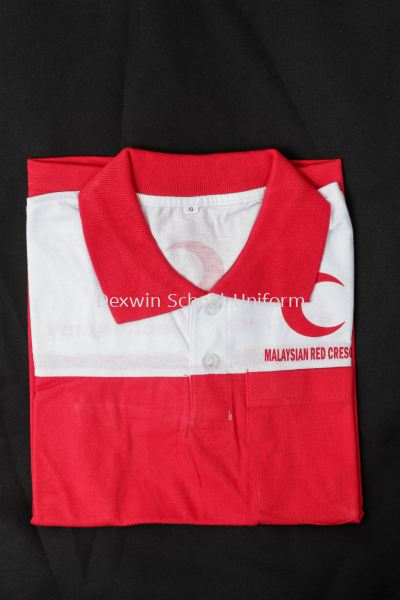 T-PB-01  T-SHIRT PBSM (RED &WHITE)SHORT SLEEVE