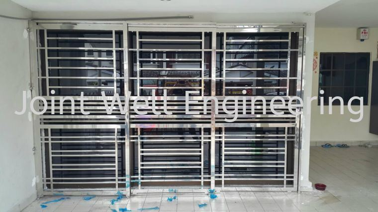 Stainless steel sliding door stainless steel sliding doors for Door design johor bahru