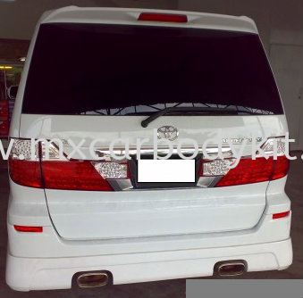 TOYOTA ALPHARD 2002-07 MS J-EMOTION DESIGN REAR SKIRT ALPHARD 10 2002 - 2007  TOYOTA