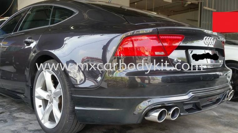 AUDI A7 BLACK BISON STYLE DESIGN REAR SKIRT A7 AUDI