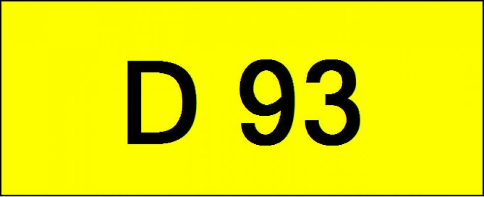 Number Plate D93