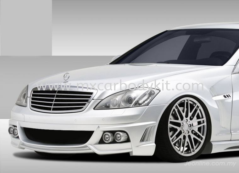 MERCEDES BENZ W221 BLACK BISONSTYLE FRONT BUMPER W221 (S CLASS) MERCEDES BENZ