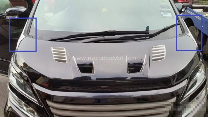 TOYOTA VELLFIRE 2008-12 J-EMOTION DESIGN BONNET CENTRE SPOILER