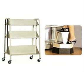 16~LIBRARY_ACCESORIES_BOOK_TROLLEY_&_STEP_STOOL