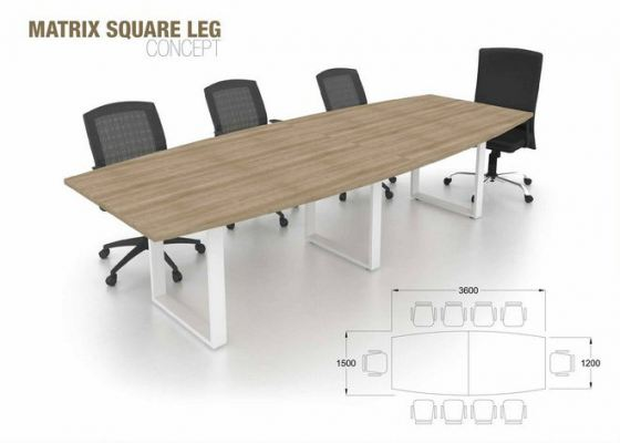 Square Leg Conference Table