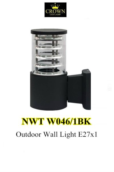 CROWN NORMAL NWTW046/1BK Outdoor Wall Lamp