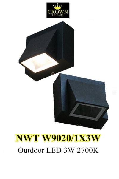 CROWN LED NWTW9020/1X3W Outdoor Wall Light