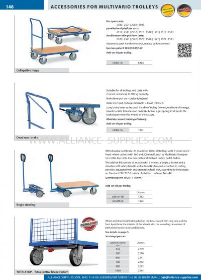 11.34.15 Accessories For Multivario Trolleys