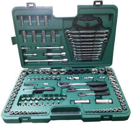 "SATA 120PC 1/4"" + 3/8"" + 1/2"" DR.SOCKET WRENCH SET(SAE & METRIC) 09014"