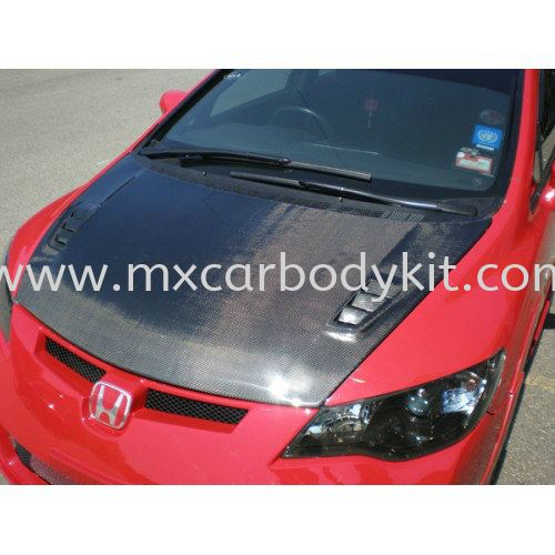 HONDA CIVIC ADVANCE RR BONNET CARBON FIBRE HONDA CIVIC CARBON FIBER BODY KITS