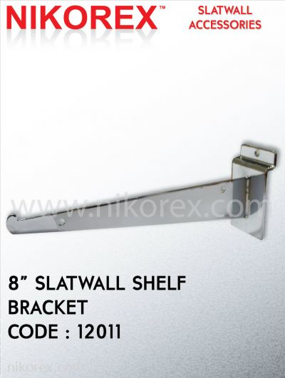 12010, 12011, 12012, 12013, 12014-SLATWALL SHELF BRACKET