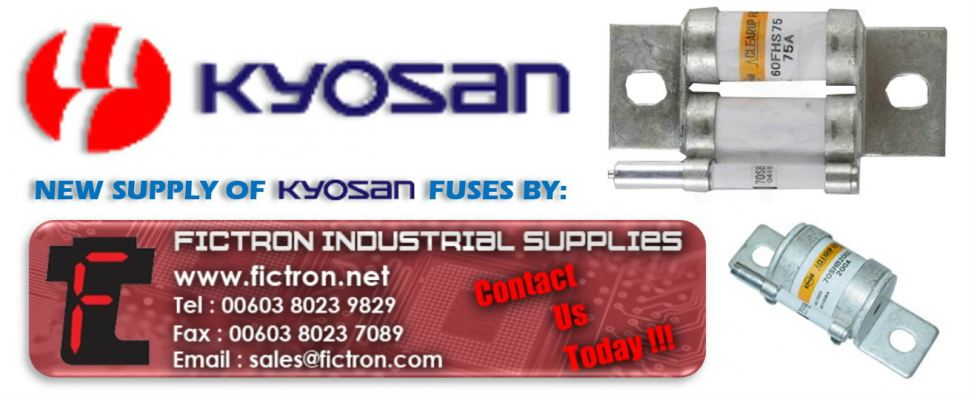 660GH-125 125A 660GH Series 660v KYOSAN Semiconductor Fuse Supply Malaysia Singapore Thailand Indonesia Philippines Vietnam Europe & USA