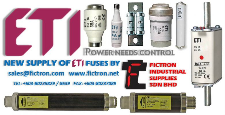 B16-FF016 16A 500v ETI Semiconductor Fuse Supply Malaysia Singapore Thailand Indonesia Philippines Vietnam Europe & USA