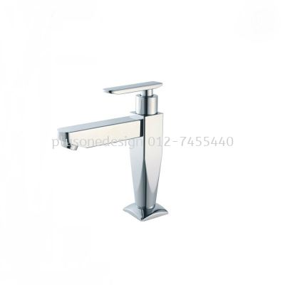 Satin Finish Pillar Basin Tap Q02SS