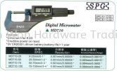 SPG DIGITAL OUTSIDE MICROMETER (REF NO. PEC0001) DIGITAL OUTSIDE MICROMETER SPG