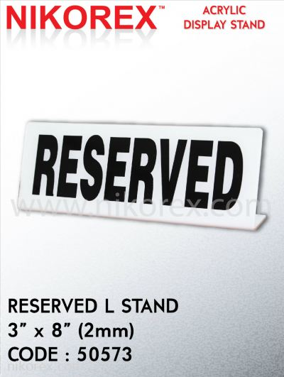 """50573-RESERVED L STAND-3""""X8"""" (2MM)"""