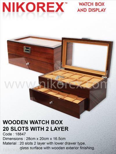 18847-WOODEN WATCH BOX-20COM