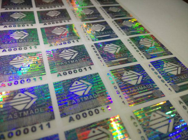 Serial Numbers Series Security Hologram