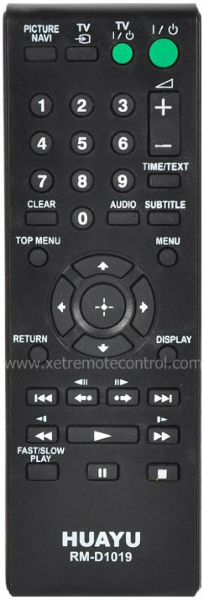 RM-D1019 SONY DVD REMOTE CONTROL