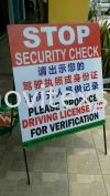 security  check sign /with or without  Chinese  text Safety Sign Sample Industry Safety Sign and Symbols Image