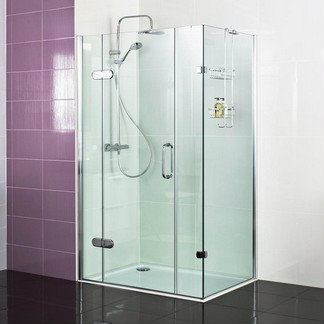 Decem Hinged Door with Two Inline Panels and Side Panel for Corner Fitting Decem Shower Screen