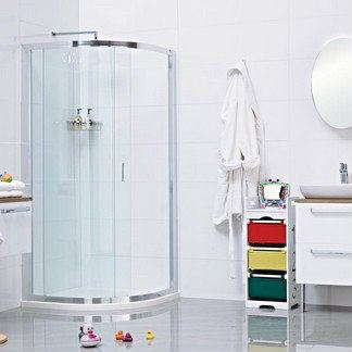 Lumin8 One Door Quadrant Shower Enclosure Lumin8 Shower Screen