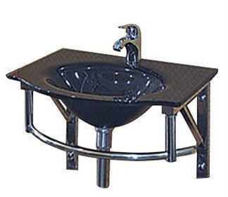 E0028 Jincare Glass Basin With Waste