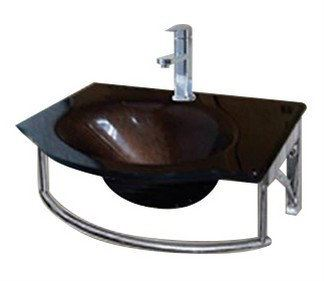 E0033 Jincare Glass Basin With Waste