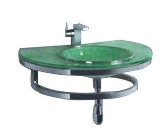 E0010 Jincare Glass Basin With Waste