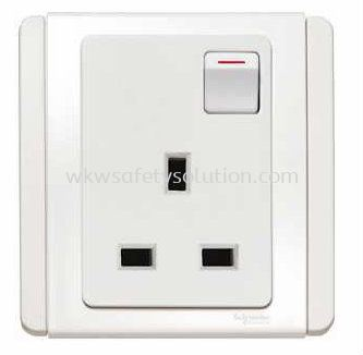 13A 1 Gang Switch Socket Outlet With White LED