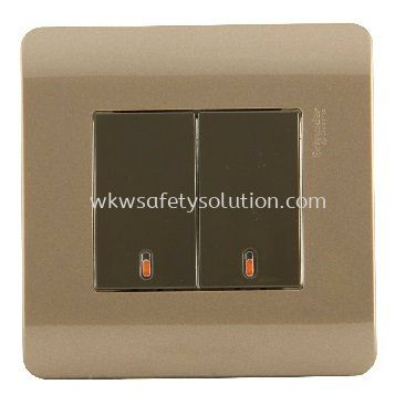 16AX/20A 2Gang1Way Full-Flat Switch With Ondicator