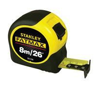 "33-726 - 8m/26' x 1-1/4"" FATMAX® Tape Rule (Metric/English Scale) Measuring / Layout Tools Stanley"