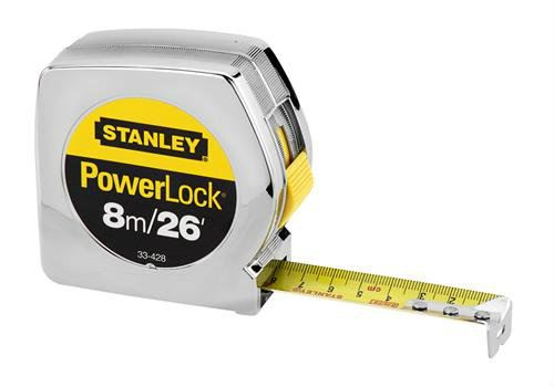 "33-428 - 8m/26' x 1"" PowerLock® Tape Rule (Metric/English Scale) Measuring / Layout Tools Stanley"